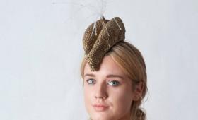 """Gold """"Alexander McQueen"""" Hat"""